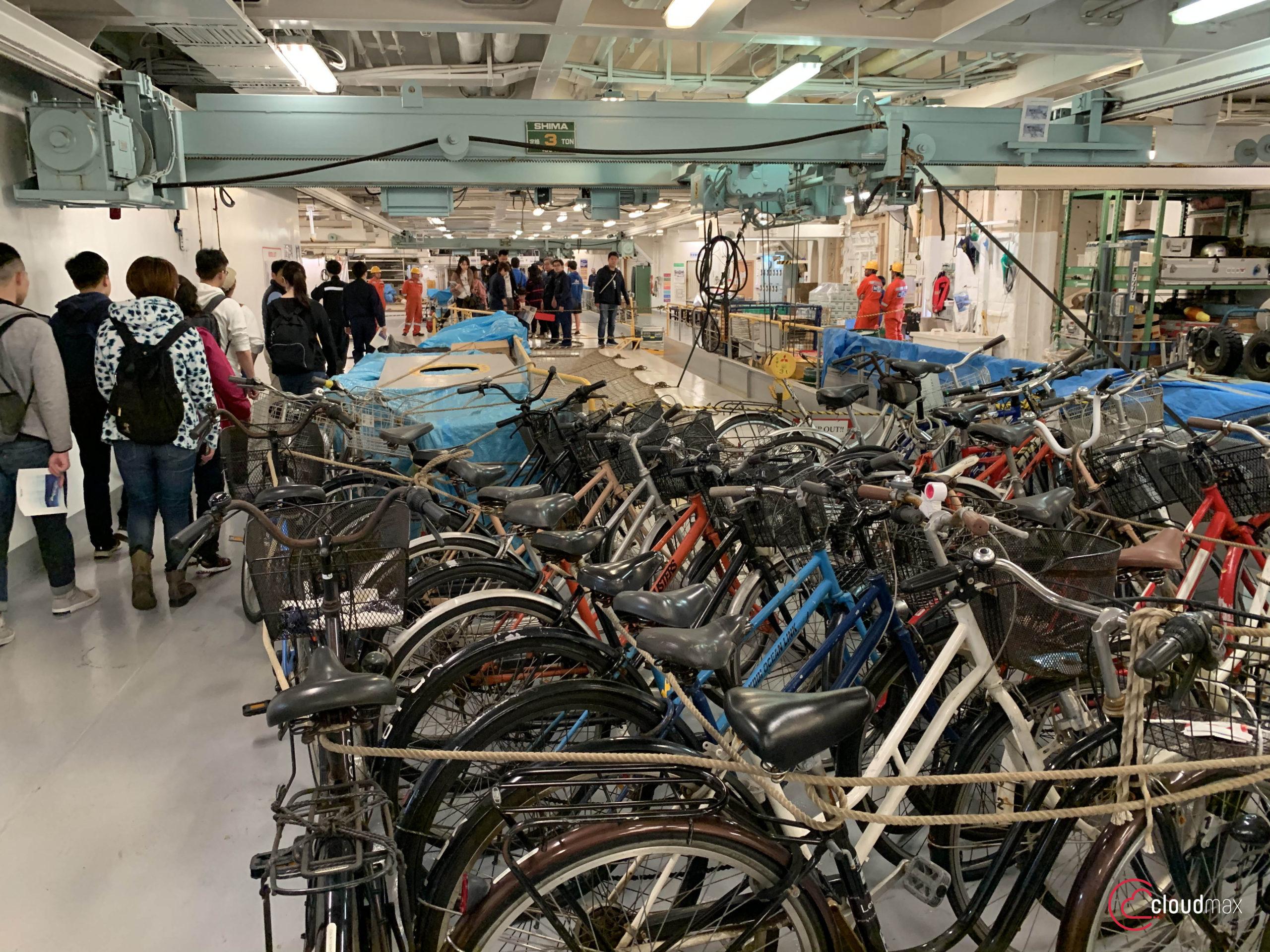 海纜船自轉車專用停車場